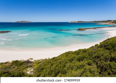 Beautiful pristine beach with amazing sea colors in Esperance, Australia