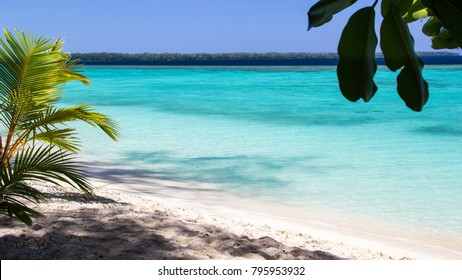 Beautiful Pristine Waters and white sand beach in Conflict Islands Papua New Guinea, South Pacific Islands
