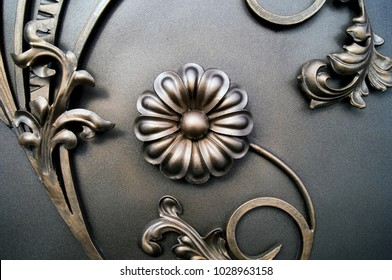 beautiful processing of forged metal products of gates