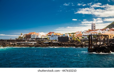 beautiful promenade of Garachico village, Tenerife, Canary Islands, Spain