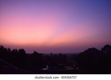 Beautiful Purple Sunrise