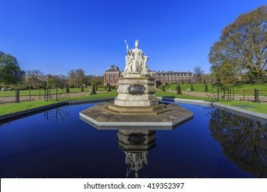 Beautiful Queen Victoria Statue around Hyde Park, London, United Kingdom