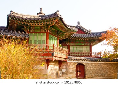beautiful queen's chamber, daejojeon hall, changdeokgung palace seoul south korea