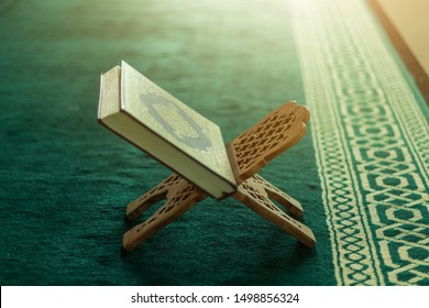 Beautiful Quran - The Holy book of Muslims in Mosque
