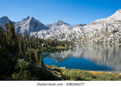 Beautiful Rae Lake on the John Muir Trail in Kings Canyon National Park California