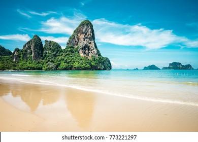 Beautiful Railay beach in Krabi province, Thailand