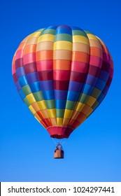 Beautiful Rainbow Hot Air Balloon