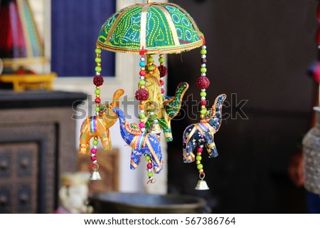 Beautiful Rajasthani Handicrafts Sale Shop Udaipur Stock Photo Edit