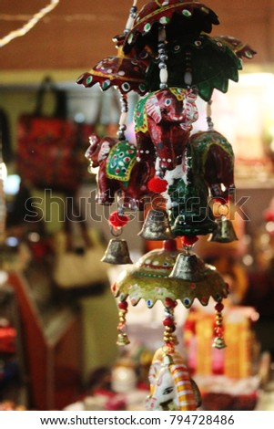 Beautiful Rajasthani Handicrafts Sale Shop Jaipur Stock Photo Edit