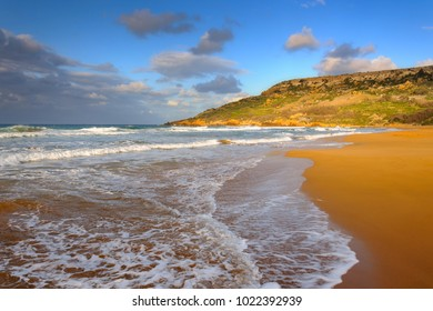 Beautiful Ramla Bay on Gozo island, Malta