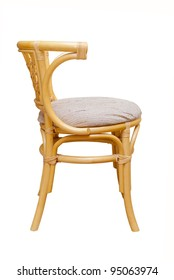 beautiful rattan chair on a white background