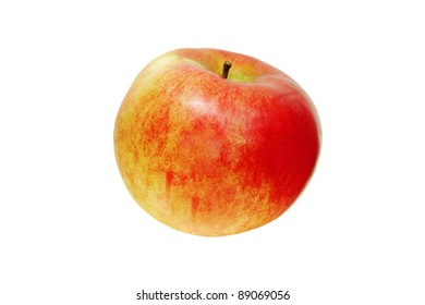 beautiful red apple isolated on a white background