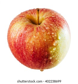 Beautiful red apple on a white background. For package design