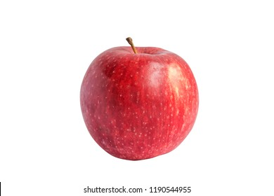 beautiful red apple without background for design