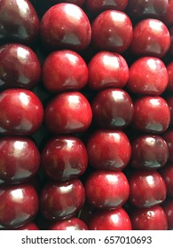Beautiful red fresh cherry