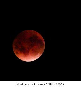 Beautiful red moon