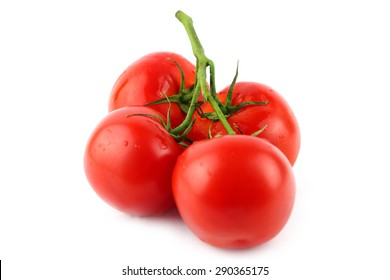 beautiful red ripe tomato as an element of healthy food