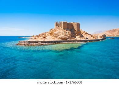 beautiful Red Sea coast on hot egypt