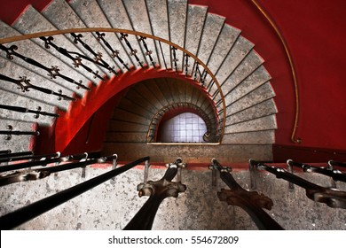 Beautiful red staircase