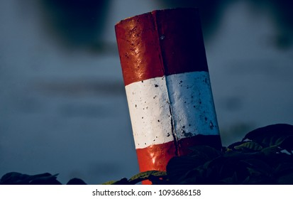 Beautiful red and white concrete object isolated unique photograph