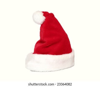 Beautiful red and white hat of Santa
