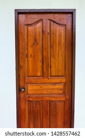 Beautiful red-brown edged wooden door