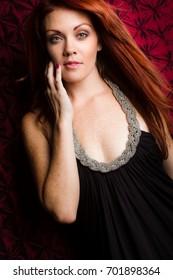 Models fashion Pretty redhead