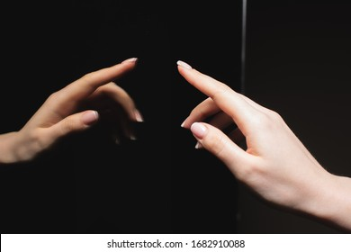 beautiful reflection of the hand