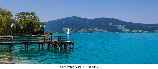 Beautiful reflections at the Attersee