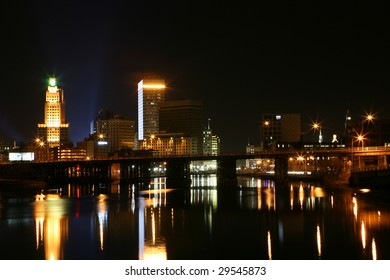 Beautiful reflections in Providence River