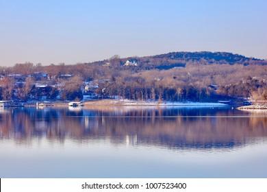 Beautiful reflections at Table Rock Lake, Missouri