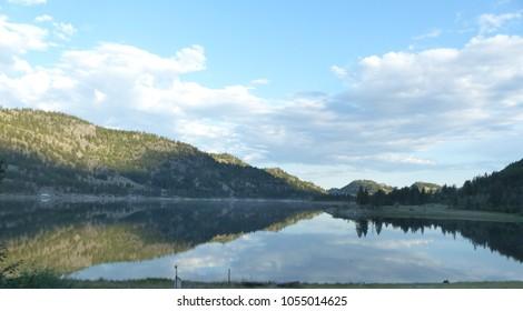 Beautiful Reflective Wannacut Lake in Oroville Washington