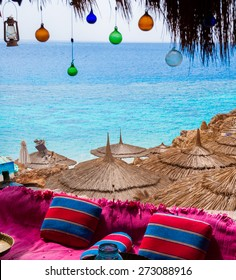 beautiful relaxing place on Hadaba beach, in Egypt