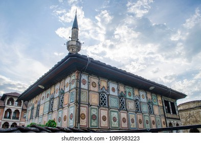 Beautiful religious decorated mosque Sarena Dzamija in Tetovo Macedonia