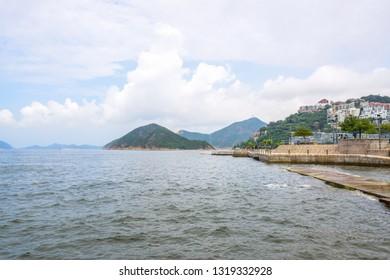Beautiful Repulse Bay landscape, the famous tourist destination in Hong Kong island
