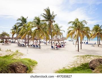 Beautiful resort beach in Varadero Cuba