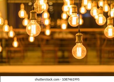 beautiful retro edison light lamp decor, light lamp electricity hanging decorate home interior