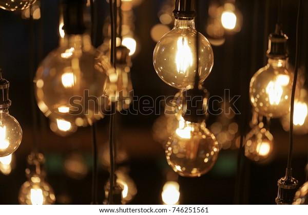 beautiful retro edison light lamp decor
