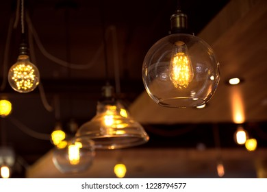 Beautiful retro luxury interior lighting bulb decor