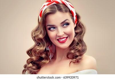 Beautiful Retro Vintage Pinup Girl Beautiful Stock Photo Edit Now
