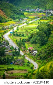 Beautiful rice terraced amazing landscape in the during trip HA GIANG, VIETNAM. The travel destination of Vietnam adventure tour and beautiful scenery and lovely people in HA GIANG, Northern VIETNAM