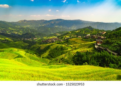 Beautiful Rice Terraces at Dazhai villadge