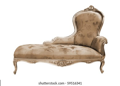 beautiful and rich couch on white background