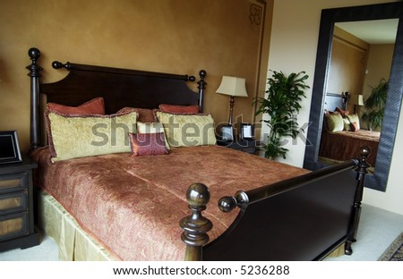 Beautiful Rich Tuscan Style Bedroom Stock Photo (Edit Now) 5236288 ...