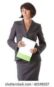 Beautiful rigorous business woman