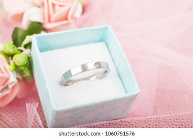 Beautiful ring in the box