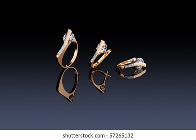 Beautiful ring and earrings