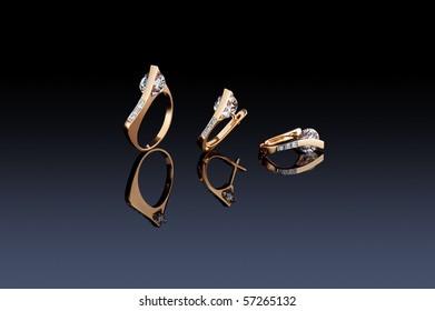 Beautiful ring and earrings