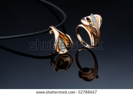 beautiful ring and pendant