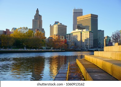 Beautiful river and cityscape of Providence, Rhode Island